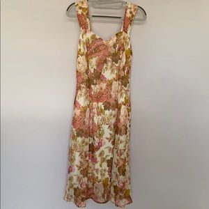 Connected Apparel Flowy Floral Sweatheart Dress 8